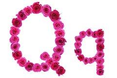 Letra q de rosas Foto de archivo libre de regalías
