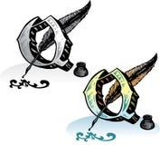 Letra Q do estilo do tatuagem Imagem de Stock Royalty Free