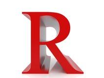 Letra R Imagen de archivo libre de regalías