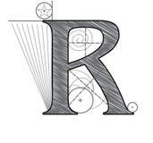 Letra R ilustración del vector