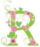 Letra R con las rosas Fotografía de archivo libre de regalías