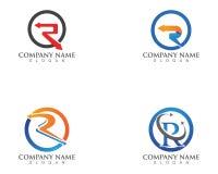 Letra R Logo Template Circle Arrow Design ilustración del vector