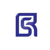Letra R y S, RS, SENIOR, letra S, logotipo de la letra R stock de ilustración