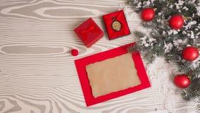 Letra retra en fondo de madera Concepto de la Navidad Fotografía de archivo libre de regalías