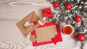 Letra retra en fondo de madera Concepto de la Navidad Imagen de archivo