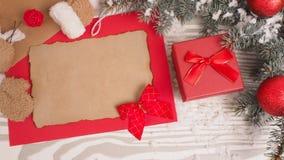 Letra retra en fondo de madera Concepto de la Navidad Fotos de archivo