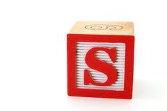 Letra s Fotografia de Stock