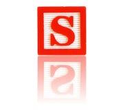 Letra s Imagens de Stock