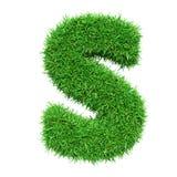 Letra S da grama verde Fotografia de Stock