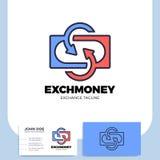 Letra S del intercambio y logotipo de la flecha Devolución de efectivo c de los servicios financieros libre illustration