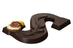 Letra S do chocolate Foto de Stock Royalty Free