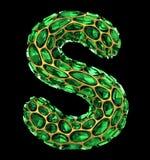 letra S do diamante 3D no preto isolado ilustração royalty free