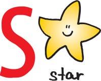 Letra S - estrela ilustração do vetor