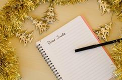 Letra a Santa Fotografia de Stock