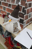 Letra a Santa Claus Fotografía de archivo libre de regalías