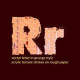 Letra suja R Imagens de Stock Royalty Free