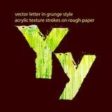 Letra suja Y Imagem de Stock Royalty Free