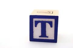 Letra t Imagen de archivo libre de regalías