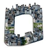 Letra urbana de o de la colección de la fuente de la ciudad Imagenes de archivo