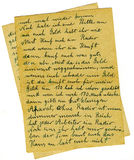 Letra velha Fotos de Stock