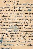 Letra velha com escrita do vintage Textura de papel envelhecida Foto de Stock