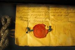 Letra velha com selo Imagem de Stock Royalty Free