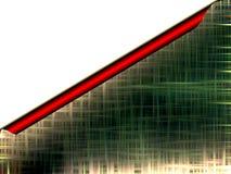 A letra verde abstrata gosta do fundo Fotos de Stock