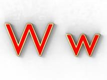 Letra W Imagen de archivo libre de regalías