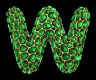 letra W do diamante 3D no preto isolado ilustração do vetor