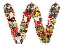 Letra W, para la decoración de la Navidad stock de ilustración
