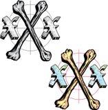 Letra X do estilo do tatuagem Foto de Stock