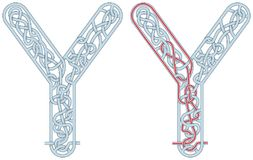 Letra Y do labirinto Imagem de Stock Royalty Free