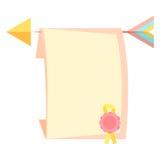 Letra y flecha Fotos de archivo libres de regalías