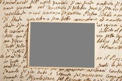 Letra y imagen Fotografía de archivo