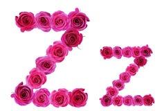 Letra z de rosas Fotografía de archivo libre de regalías