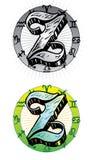 Letra Z do estilo do tatuagem Foto de Stock