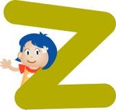 Letra Z (muchacha) del alfabeto Imagen de archivo