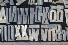 Letras 3 das impressoras Fotografia de Stock Royalty Free