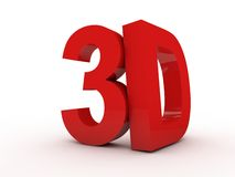 letras 3D Imagem de Stock