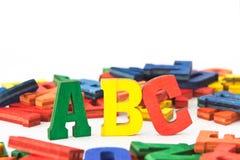 Letras: ABC Imágenes de archivo libres de regalías