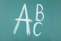 Letras ABC Foto de archivo