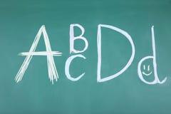 Letras ABCD Fotos de archivo libres de regalías