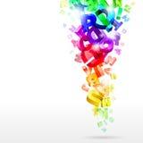 Letras abstratas do arco-íris Fotos de Stock Royalty Free