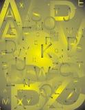 Letras ajustadas amarelas Imagem de Stock