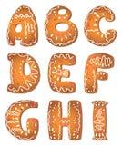 Letras ajustadas A_I do alfabeto ilustração stock