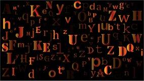 Letras al azar que caen, diseño hermoso del fondo del alfabeto libre illustration