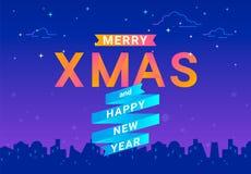Letras alegres do xmas para a celebração do Natal e o conceito dos cumprimentos ilustração royalty free