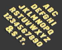 Letras alfabéticas y números del vector ilustración del vector