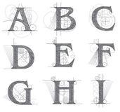 Letras arquitectónicas para el diseño Foto de archivo libre de regalías