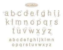 Letras beige ligeras del bordado del color de la elegancia Imagenes de archivo